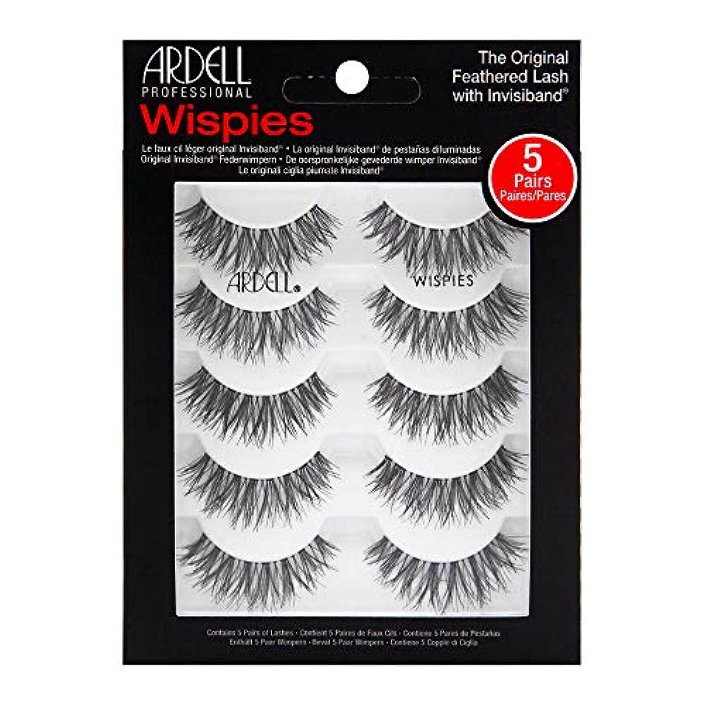 浸透するネット君主Ardell 5 Pack Lashes - Wispies - 68984