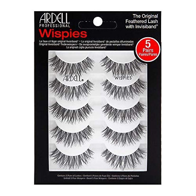 ナチュラル床統合Ardell 5 Pack Lashes - Wispies - 68984