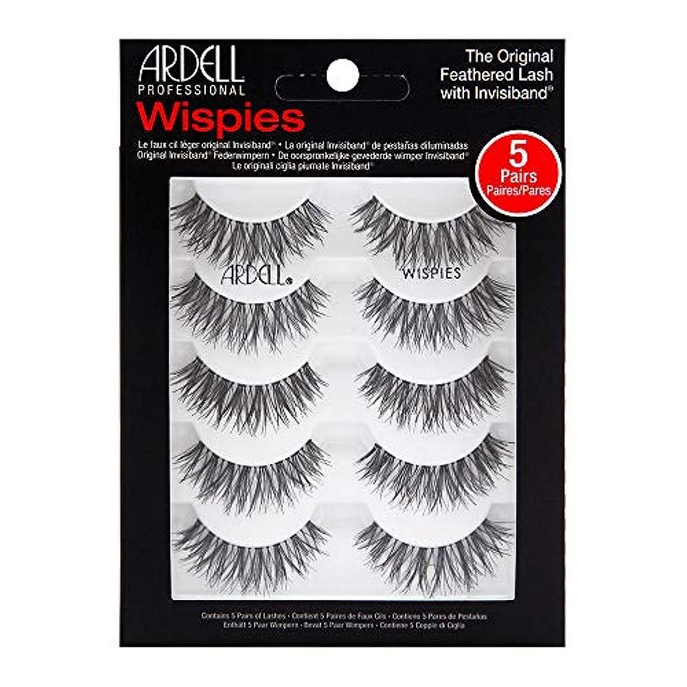 漏れ高度美徳Ardell 5 Pack Lashes - Wispies - 68984