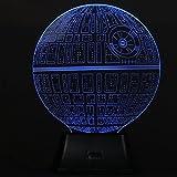 SAVFY 3D Death Star Bulbing Bedroom Decorative Night Multi 7 Color Change USB Touch Button LED Desk Table Light Lamp [並行輸入品]