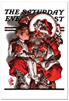 クリスマスEvening PostクリスマスJoke用紙カード 12 Christmas Card Pack (SKU:B6037AXSG)