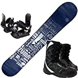 ツマ(ZUMA) 3点セット スノーボード TYPOS 金具付き ブーツ付き (シルバー138cm, ブーツ23cm) ワックス施工付き