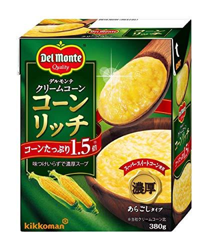 キッコーマン食品 デルモンテ クリームコーン コーンリッチ 380g 1セット(4個)