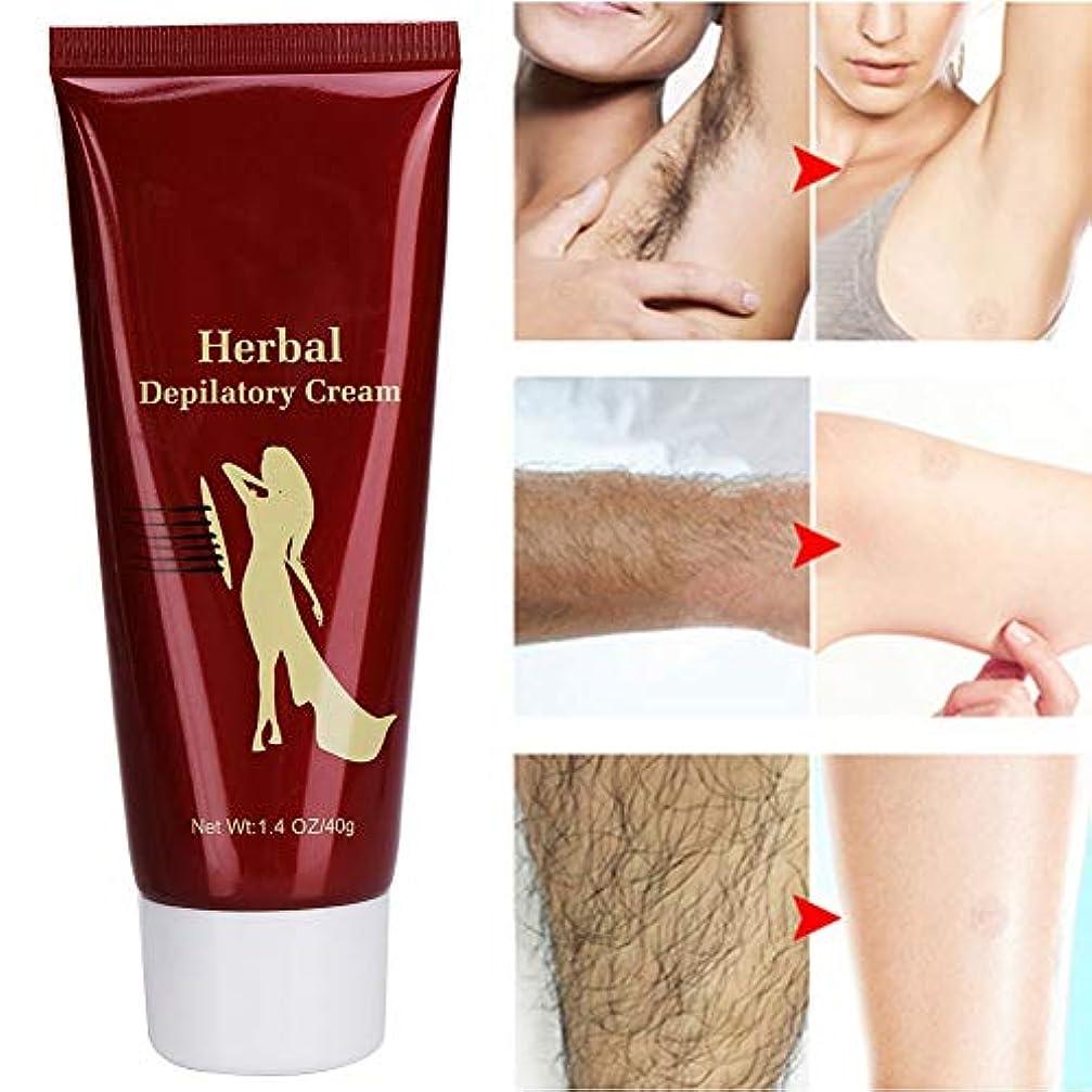 ディレクトリ知的治すプロの脱毛クリームナチュラルハーブエキス脱毛クリーム脇腕脚体脱毛用、40 g