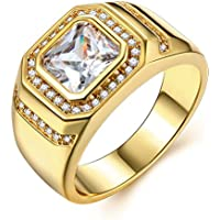 Borong Ring Men Gold Men's Jewelry Wedding Engagement Signet Rings with Yellow Gold Plated