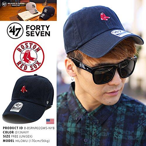 【B-BSRNR02GWS-NYB】 フォーティーセブンブランド 47BRAND ローキャップ CAP 帽子 MLB メジャーリーグ ボストン レッドソックス 正規品 (01)紺 Fサイズ