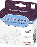 3L Repositionable Permanent Mounting Squares, 1/2-Inch x 1/2-Inch, 1000pk, White [並行輸入品]