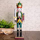 ZHUOTOP Nice Nutcracker Soldier Shape Wooden Puppet Crafts Christmas Gift Decoration 1