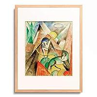 フランツ・マルク Franz Marc 「Landscape with two horses」 額装アート作品