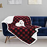 Pawsse Waterproof Blanket for Dogs,Pee Urine Liquid Proof Blanket for Couch Sofa Bed,Soft Reversible Furniture Protector Cover,Sherpa Pet Blanket for Small Medium Large Dog Cat,80x60 inches