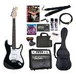 PhotoGenic エレキギター 初心者入門年始セット ストラトキャスタータイプ ST-180/BK ブラック ローズウッド指板