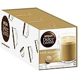 ネスカフェ ドルチェグスト(DOLCE GUSTO)  CAFÉ AU LAIT - カプセル 16杯分×4箱 - 並行輸入品