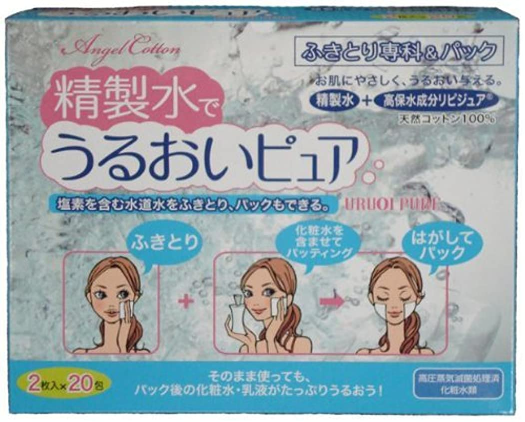 チキン姓句丸三産業 精製水でうるおいピュア 2枚X20包