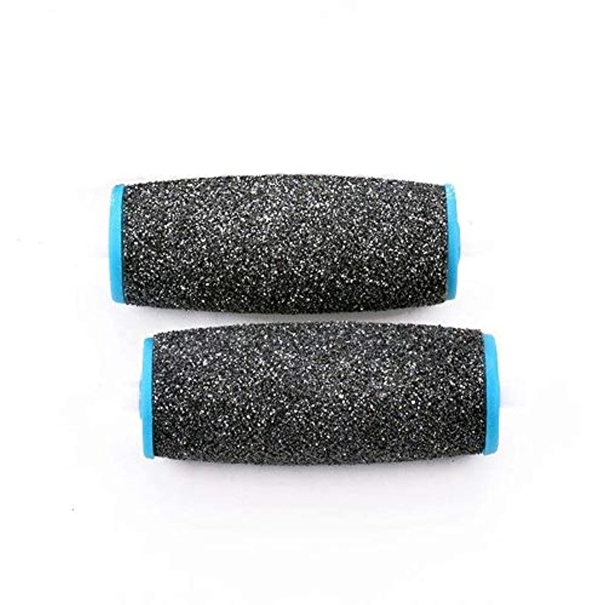 圧倒的夜明けにコンペViffly ベルベットスムーズ 電動角質リムーバー ダイヤモンド リフィル エキストラ かたい角質用 2個セット (ブラック+ブルー)