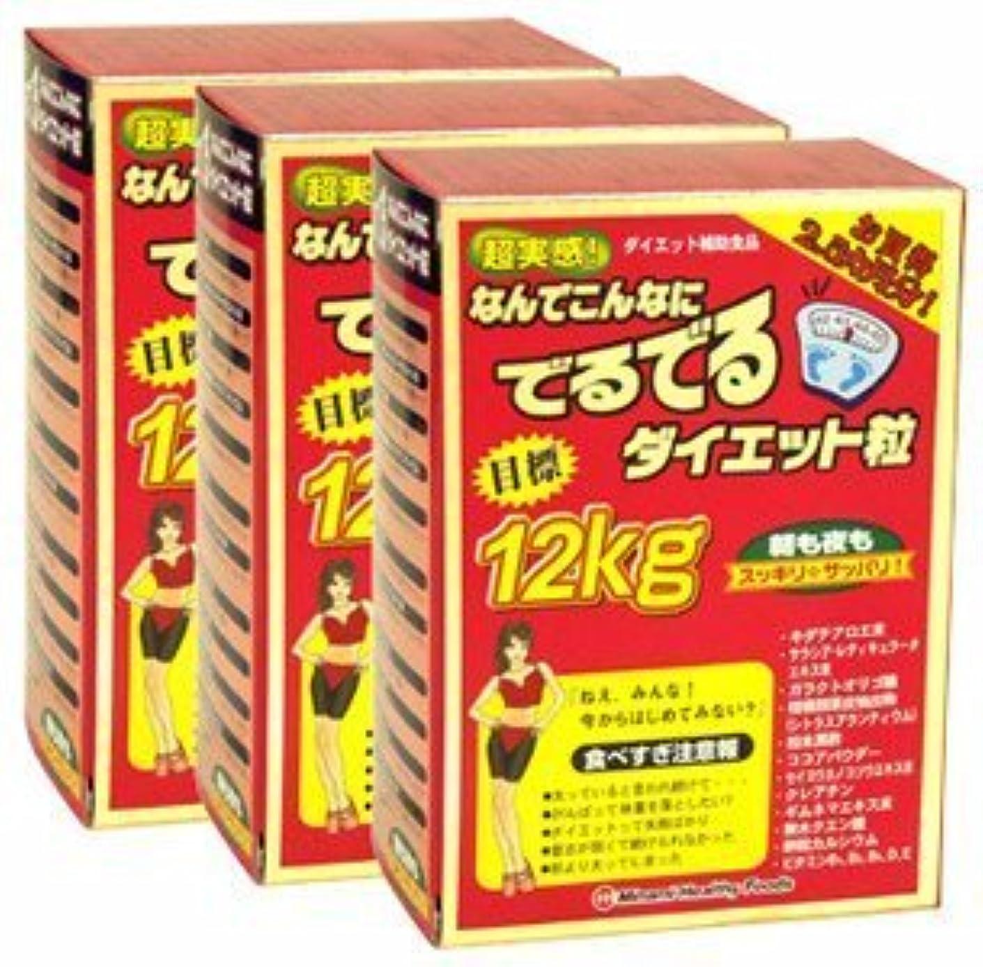 アプト木材混乱ミナミヘルシーフーズ 超実感 でるでる粒 75袋入 約75日分【3箱セット】