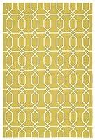 Kaleen Rugs Escape Indoor/Outdoor Rug Gold 9' x 12' [並行輸入品]