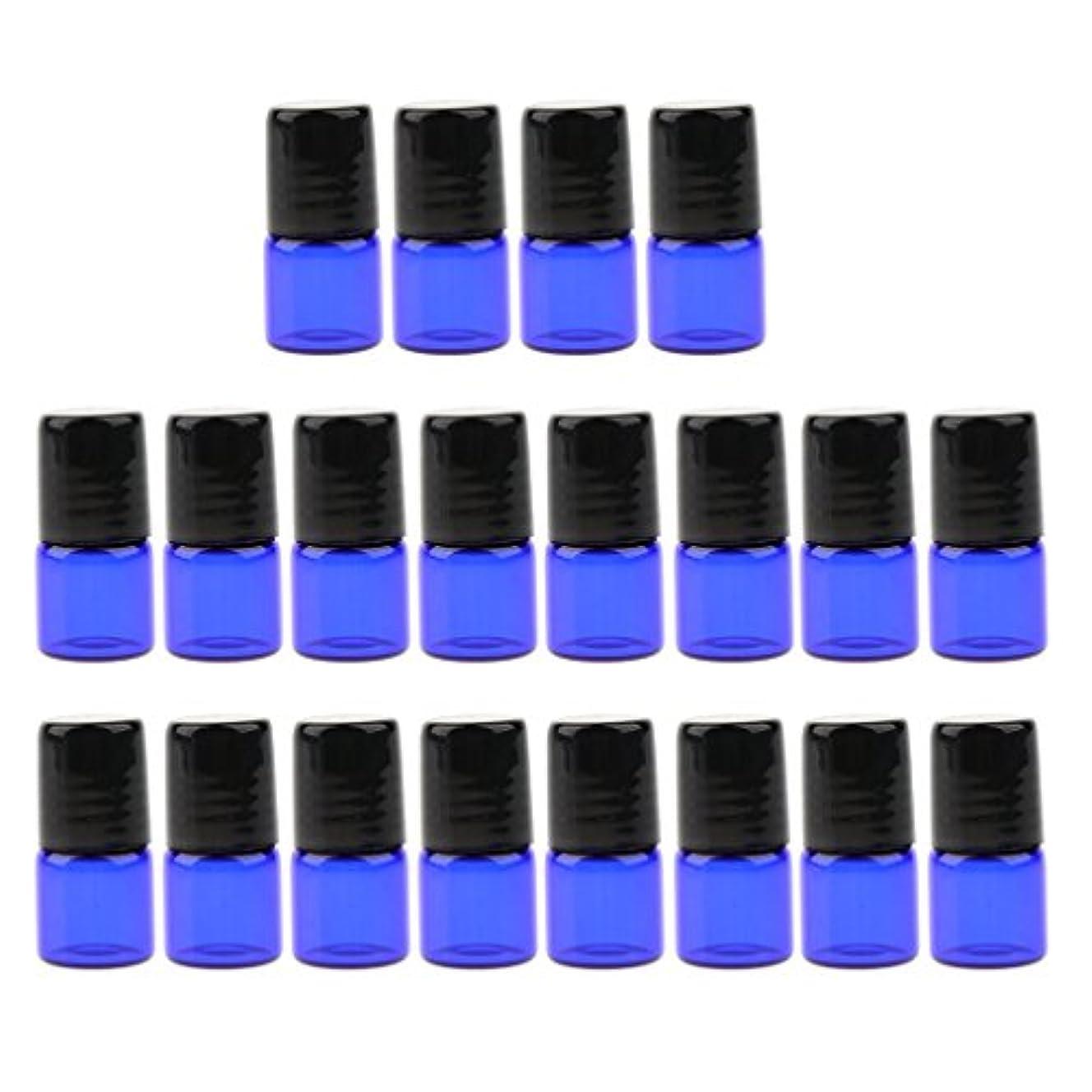 つば社会主義者手つかずのエッセンシャルオイル ボトル ガラス ローラーボール 香水ボトル 詰め替え可能な 3サイズ選べ - 1 ml