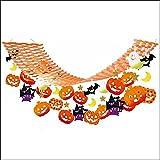 ハロウィン装飾 パンプキン&こうもりハンガー L180cm  29125