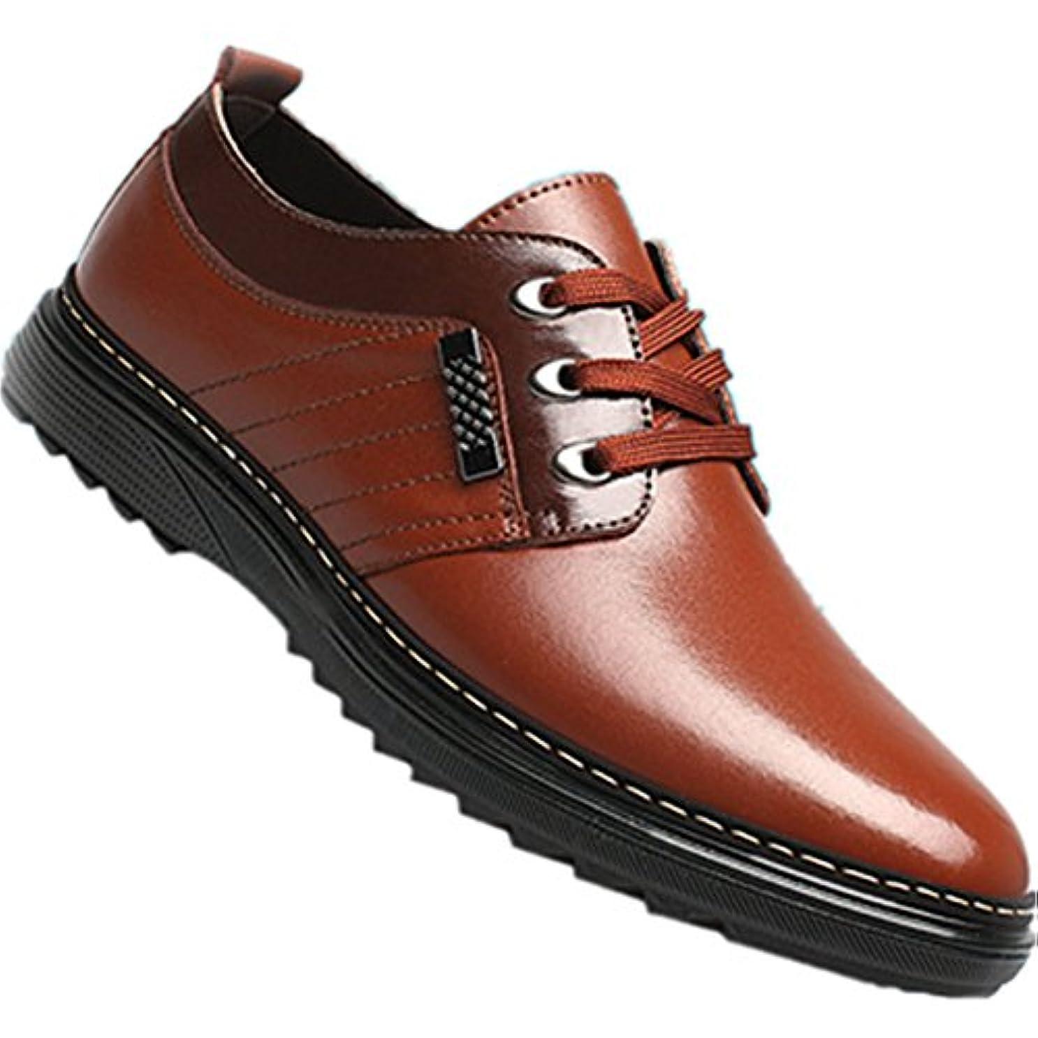 ぼろ元気なパキスタンRabiya カジュアルシューズ メンズ ビジネスシューズ レザーシューズ オフィス レースアップシューズ 紳士靴 アウトドアシューズ ドレスシューズ (25.5)