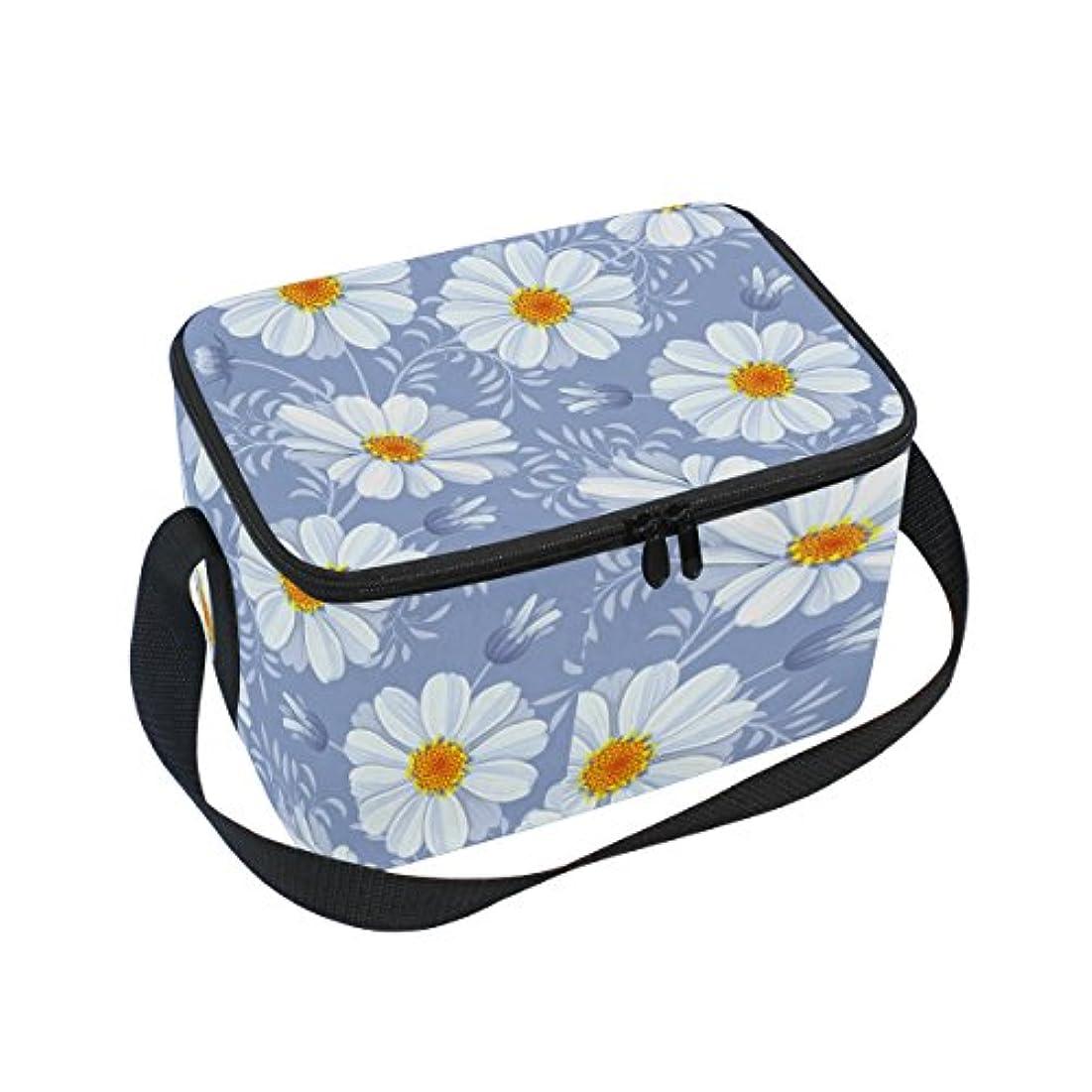 資料残酷みがきますクーラーバッグ クーラーボックス ソフトクーラ 冷蔵ボックス キャンプ用品 デージー柄 保冷保温 大容量 肩掛け お花見 アウトドア
