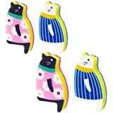 Sink Cat Dish Sponge Scrubber for Washing Dishes Dishwashing Cloth Scrubber Pack of 4