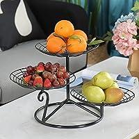 CS フルーツバスケットリビングルームフルーツキャンディーボックスフルーツプレートディスクナッツ家庭用リビングルームコーヒーテーブル3つの多目的スナックトレイ ( Color : Balck )