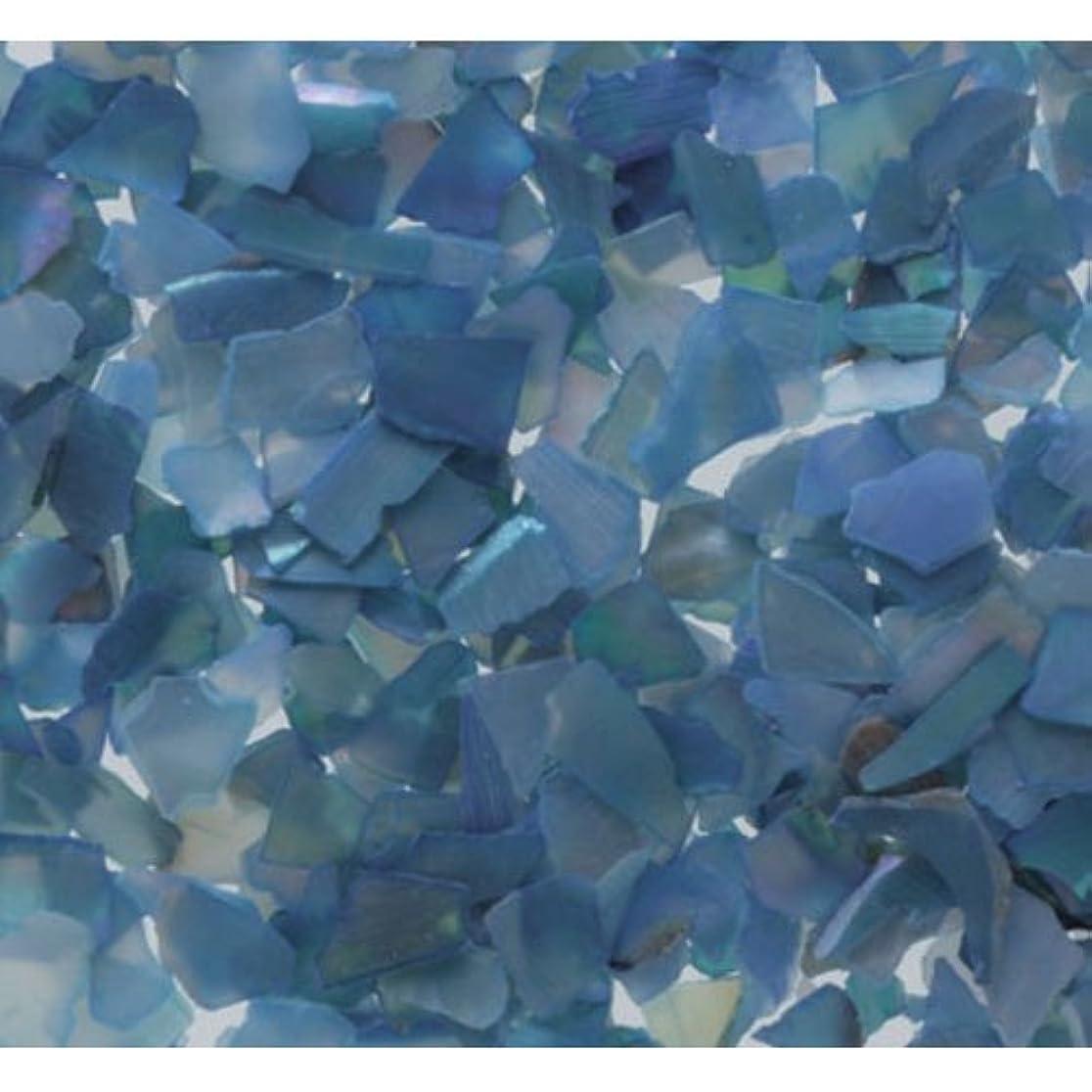 白菜立証する検体ピカエース ネイル用パウダー シェルグレイン M #327 ブルー 1g
