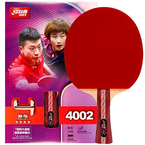 DHS Table Tennis Racket Ping Pong Paddle Racquets Double Pimples-in Bats Shakehand/Penhold (Penhold)