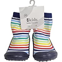 ES Kids Rubber Soled Socks - Blue Rainbow 12-18mths, Blue