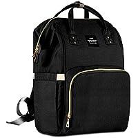 EVATECH マザーズリュックママバッグ 軽量 多機能 旅行用 大きい開き口デザインショルダーバッグ 出産準備祝い (黒)