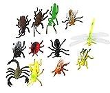 虫のモデル 多種の昆虫おもちゃ 知育玩具庭飾り 12匹セット