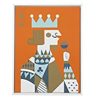Superora(スーパーオラ)ポスター アートフレーム インテリア トランプ芸術 King&Queen 油画布 キッチン用 レストラン用 ポスター 額入り モダン ウォールデコ 釘付き
