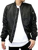 (マルカワジーンズパワージーンズバリュー) Marukawa JEANS POWER JEANS VALUE フライトジャケット メンズ MA-1 ブルゾン 迷彩 5color S ブラック