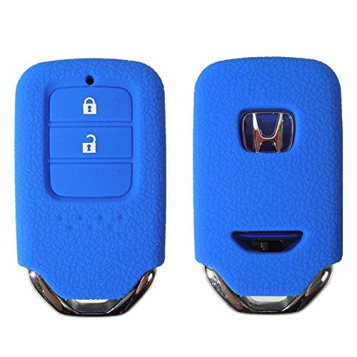 スマートキーカバー ホンダ フィット ハイブリッド GK3 GK4 GK5 GK6 GP5 カバー キーケース 専用設計 スマピタ シリコン ブルー