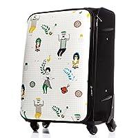 M型 アーバン(ホワイト) / Ogram ソフト スーツケース キャリケース ファスナータイプ