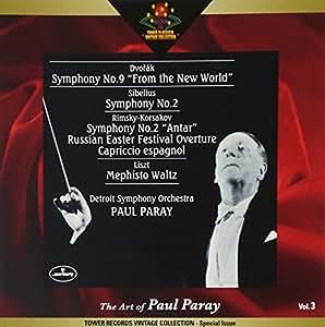 ポール・パレーの芸術 Vol.3 -ドヴォルザーク, シベリウス, リムスキー=コルサコフ, リスト:作品集: ドヴォルザーク:交響曲第9番「新世界より」; シベリウス:交響曲第2番 他