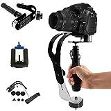 ZENIC スタビライザー 黒ハンドヘルド 手振れ防止 撮影安定化機材 GoPro/ビデオカメラ/デジタル一眼レフカメラ/iphoneに対応 (黒)