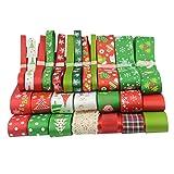SONONIA 26pcs DIY クラフト 工芸 クリスマス 装飾用 グログラン リボン  ギフト包装  混合色