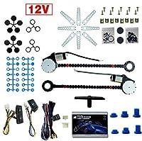 電気窓変換キット2ウィンドウユニバーサル12ボルト2ドア電気自動車トラックパワーウィンドウリフターレギュレーター変換キットスイッチ