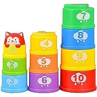 walmeck Goodway g108 Stackingカップ学習カウント数タワーBathおもちゃ幼児早期教育Stacker