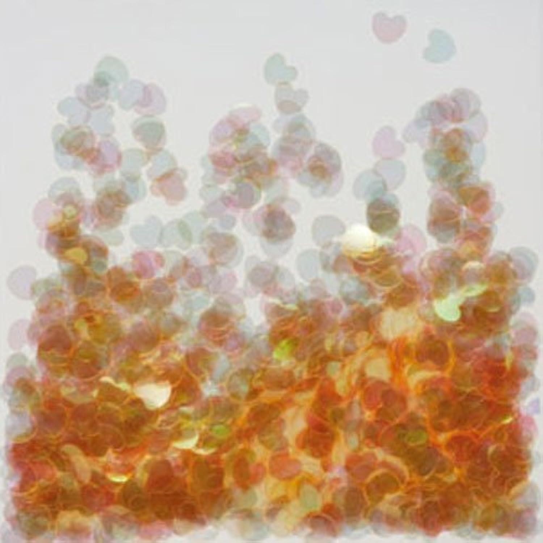 ピカエース ネイル用パウダー ミニハートオーロラ 耐溶剤 #262 オレンジ 0.5g