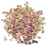 amleso コンペティ バッグ 紙吹雪 可愛い キラキラ 手作り装飾 全5選択 - 30g菱形