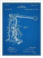 """1898薬剤師のタブレットマシン特許印刷アートポスター額なし青写真18"""" x 24"""""""