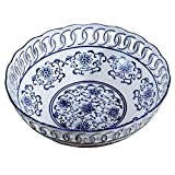 YASE-king Blue And White Porcelain Fruit Bowl Tea Room Living Room Dining Room Home Decoration Hand-painted Candy Dish