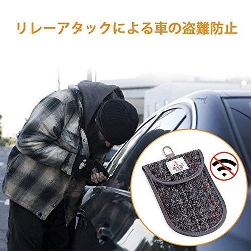 c8e360a836 ... 電波遮断 車 スマートキー ケース リレーアタック対策 車の鍵 盗難防止 電子キー ...