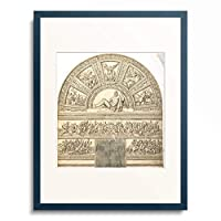 Ippolito Andreasi 「Lunett with Hercules. Around 1568/70」 額装アート作品