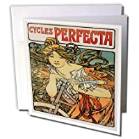Cycles Art Nouveau Vintage Bicycles Advertising Poster - Greeting Card 6 x 6 inches single (gc_153271_5) [並行輸入品]