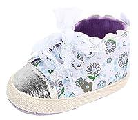 [Y-BOA] ベビー 赤ちゃん靴 ファーストシューズ スニーカー スリッポン 花柄 レース 可愛い キッズ 女の子 柔らかい 歩行練習 履き心地いい 出産お祝い パープル 12.5cm