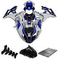 9FastMoto bmw 2012 2013 2014 S1000RR 12 13 14 S 1000 RR 用フェアリング オートバイフェアリングキット ABS 射出成形セット スポーツバイク カウル パネル (ブルー & ホワイト) D0146