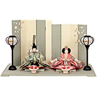 雛人形 小さい コンパクト mini ひな人形 お雛様 初節句飾り お祝い 親王飾り 2人 平飾り